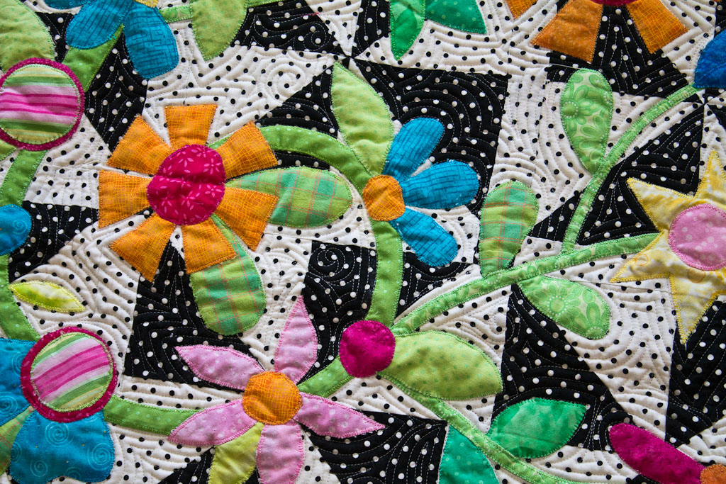 IMG 6681 Where Flowers Bloom    Finished quilt beauty shots